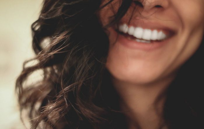 Perfect smile with clear teeth aligners